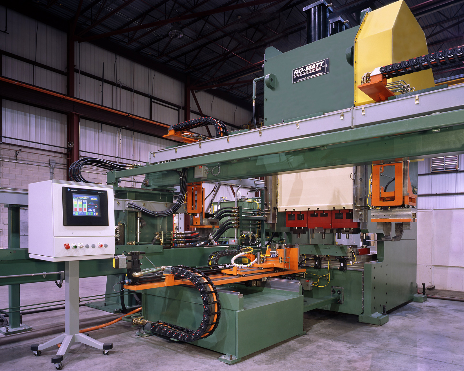 Mechanical Press, 2-Axis Servo Feeder and Gantry Pick and Place System